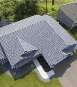 Textured Shake roofing in Granite Gray