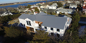 gray metal roof panels