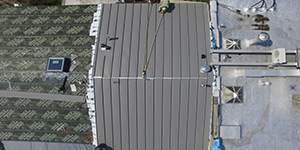 beginning of new metal roof