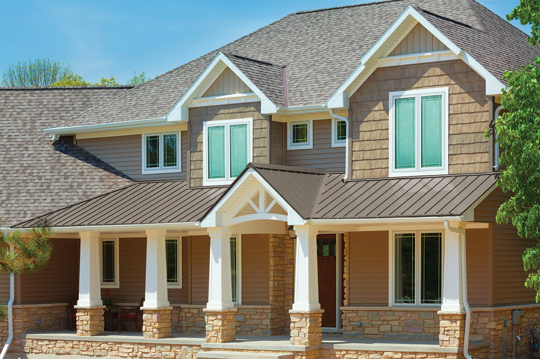 A home with Universal Standing Seam metal roofing